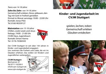 Kinder  Und Jugendarbeit Im CVJM Stuttgart