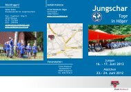 Infoflyer - CVJM-Westbund