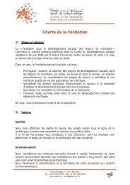 Service - Fondation pour le développement durable des régions de ...