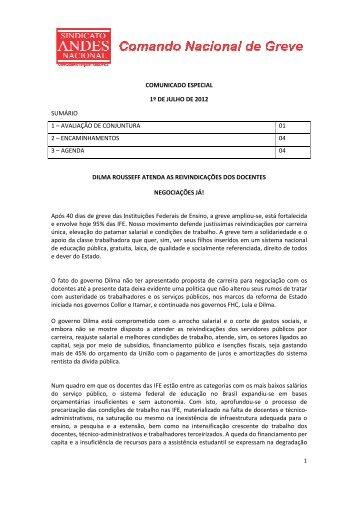 Comunicado CNG ESPECIAL 01 DE JULHO - Andes-SN