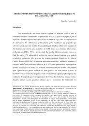 Movimento de professores e organizações de esquerda na - nupet