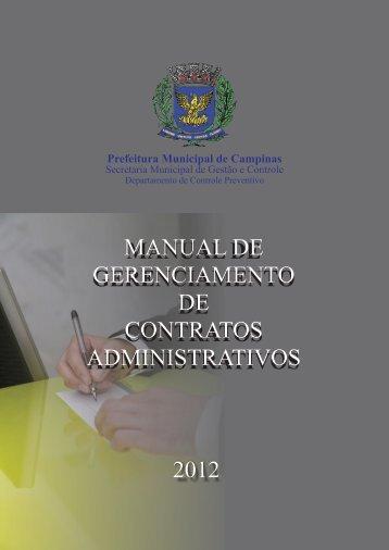 manual de gerenciamento de contratos administrativos 2012