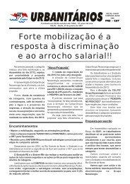 Forte mobilização é a resposta à discriminação e ao arrocho salarial!!