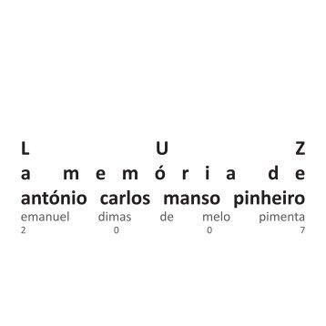 LUZ amem ó riade antónio carlos manso pinheiro - Emanuel Pimenta