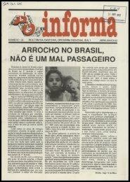 ARROCHO NO BRASIL, NÃO É UM MAL PASSAGEIRO