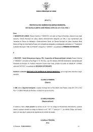 (minuta) protocolo de cedência de espaço municipal - Cidadãos por ...