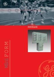 MiniFORM switchboard - GE Industrial Solutions