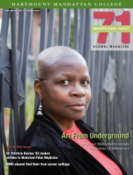 seventy-first street alumni magazine - Marymount Manhattan College