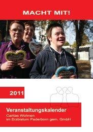 MacHt Mit! 2011 Veranstaltungskalender - Caritas Wohn