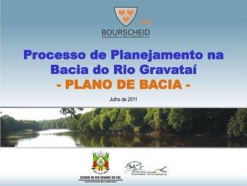 Processo de Planejamento na Bacia do Rio Gravataí - PLANO DE ...