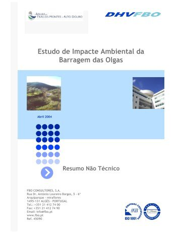 Estudo de Impacte Ambiental da Barragem das Olgas