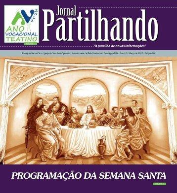 programação da semana santa - paroquiasantacruzcontagem.com.br