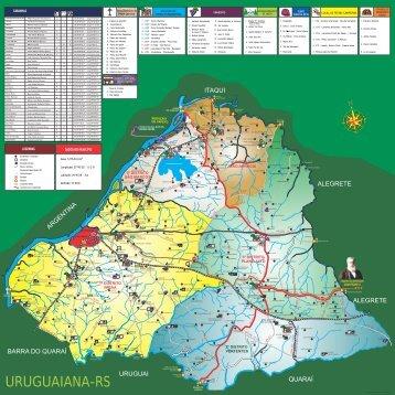 Mapa do agroturismo - Prefeitura Municipal de Uruguaiana