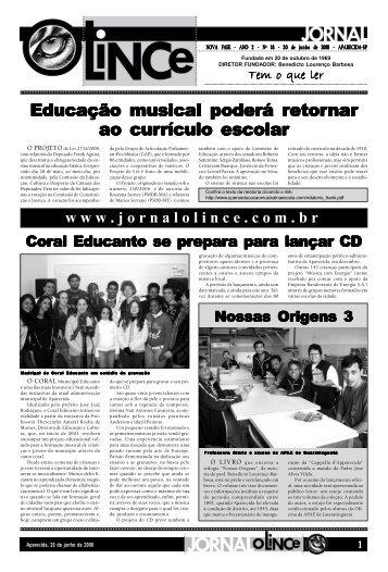 o lince 01 - Jornal O Lince