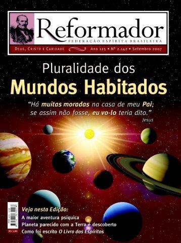 reformador setembro 2007 - a.qxp - Federação Espírita Brasileira