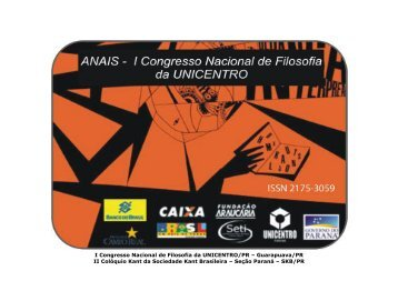 Anais - Fundação Araucária - Estado do Paraná