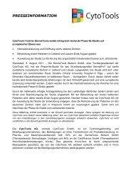 presseinformation - CytoTools AG