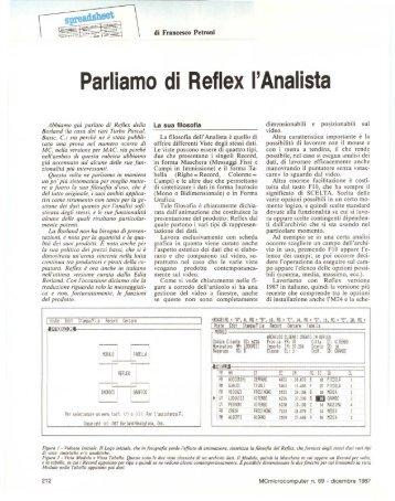 Parliamo di Reflex l'Analista - digiTANTO.it