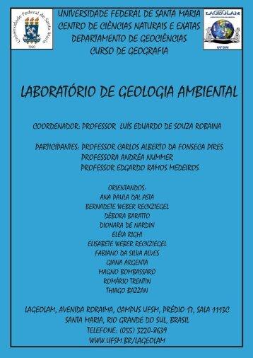 LABORATÓRIO DE GEOLOGIA AMBIENTAL - UFSM