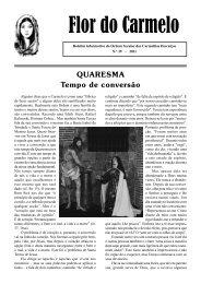 Ano I- 2ª série – Nº 1 - Ordem dos Padres Carmelitas Descalços