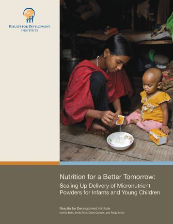 Nutrition for a Better Tomorrow:
