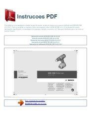Manual do usuário BOSCH GSB 14-4-2-LI - INSTRUCOES PDF