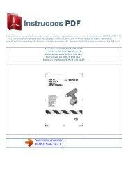 Manual do usu嫫io BOSCH GSR 14-4 V - INSTRUCOES PDF