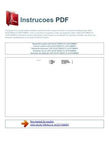 AGN71800F0 - INSTRUCOES PDF
