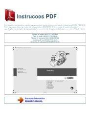 Manual do usuário BOSCH PHO 20-82 - INSTRUCOES PDF