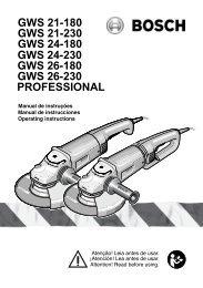 gws 26-180 gws 26-230 professional gws 21-180 gws 21-230 gws ...
