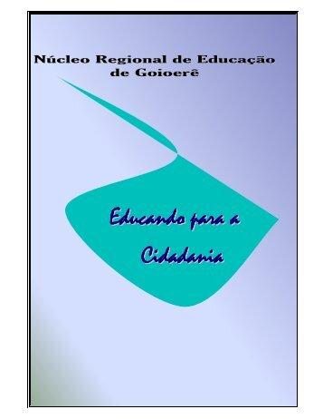 """Baixar o Caderno """"Educando para a Cidadania"""" - NRE"""