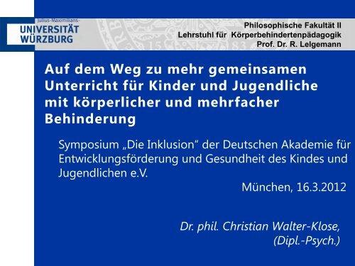 Weg zu mehr gemeinsamem Unterricht - Deutsche Akademie für ...
