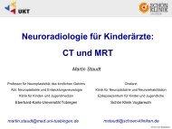 Neuroradiologie für Kinderärzte: CT und MRT
