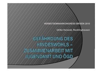 Vortrag: Gefährdung des Kindeswohls
