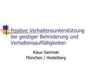 Positive Verhaltensunterstützung bei geistiger Behinderung und ...