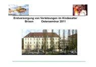 Erstversorgung von Verletzungen im Kindesalter Brixen Osterseminar