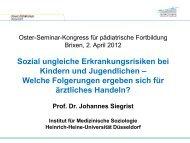 Sozial ungleiche Erkrankungsrisiken, 976 Kb - Deutsche Akademie ...