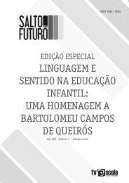 Linguagem e sentido na Educação Infantil: uma ... - TV Brasil