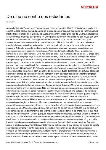 De olho no sonho dos estudantes - Universia - Universia Brasil