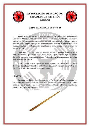 Armas tradicionais - Kung Fu em Niterói é na AKSN