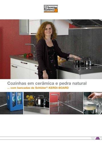 Cozinhas em cerâmica e pedra natural - Projectista.pt