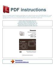 DMC-LZ7 - PDF INSTRUCTIONS: Instrucţiuni de utilizare