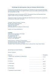 programa de ação mundial para as pessoas com - Ministério ...