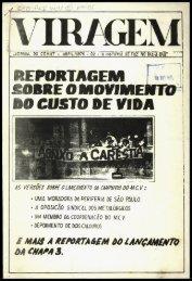 REPORTAGEM R»'« { £OBRE O MOVIMENTO RO CUSTO DE VIDA