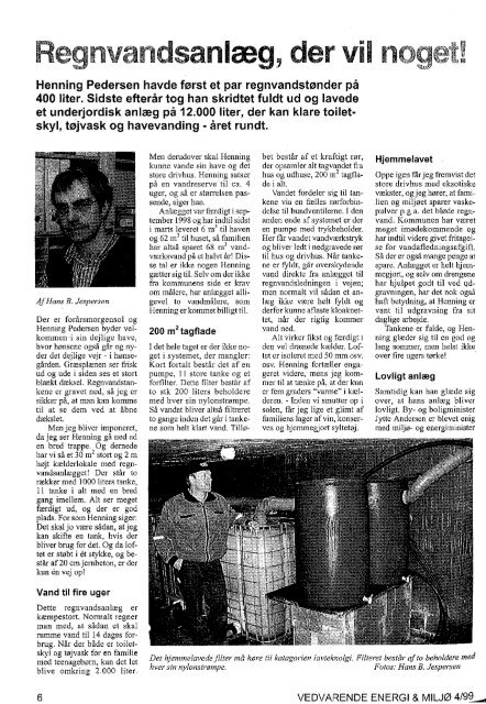 Page 1 Page 2 VEDVARENDE ENERGI OG MILJQ 4/99 Vœrn om ...