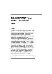 novos paradigmas na previdência social: lições do chile e da ... - DCA