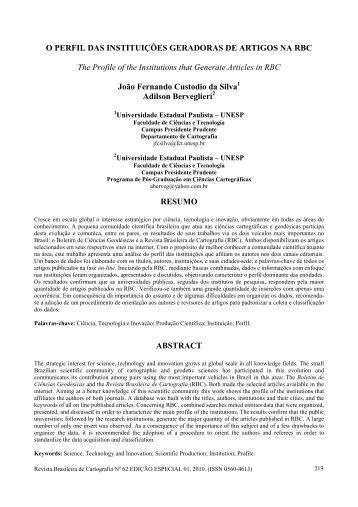 rbc - normas para publicao - Revista Brasileira de Cartografia - UFRJ