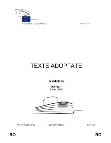 TEXTE ADOPTATE - Europa
