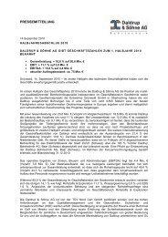 PRESSEMITTEILUNG - Daldrup & Söhne AG