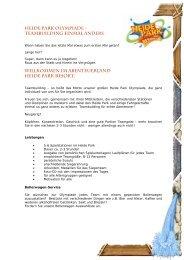 HEIDE PARK OLYMPIADE -; TEAMBUILDING EINMAL ANDERS ...